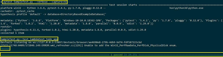 pytest-execution-script