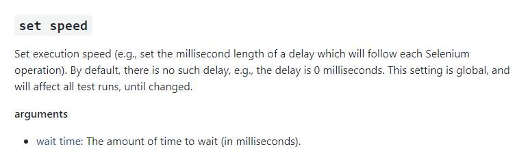 set speed command