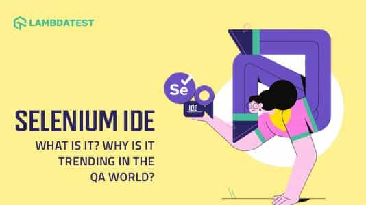 what is Selenium IDE