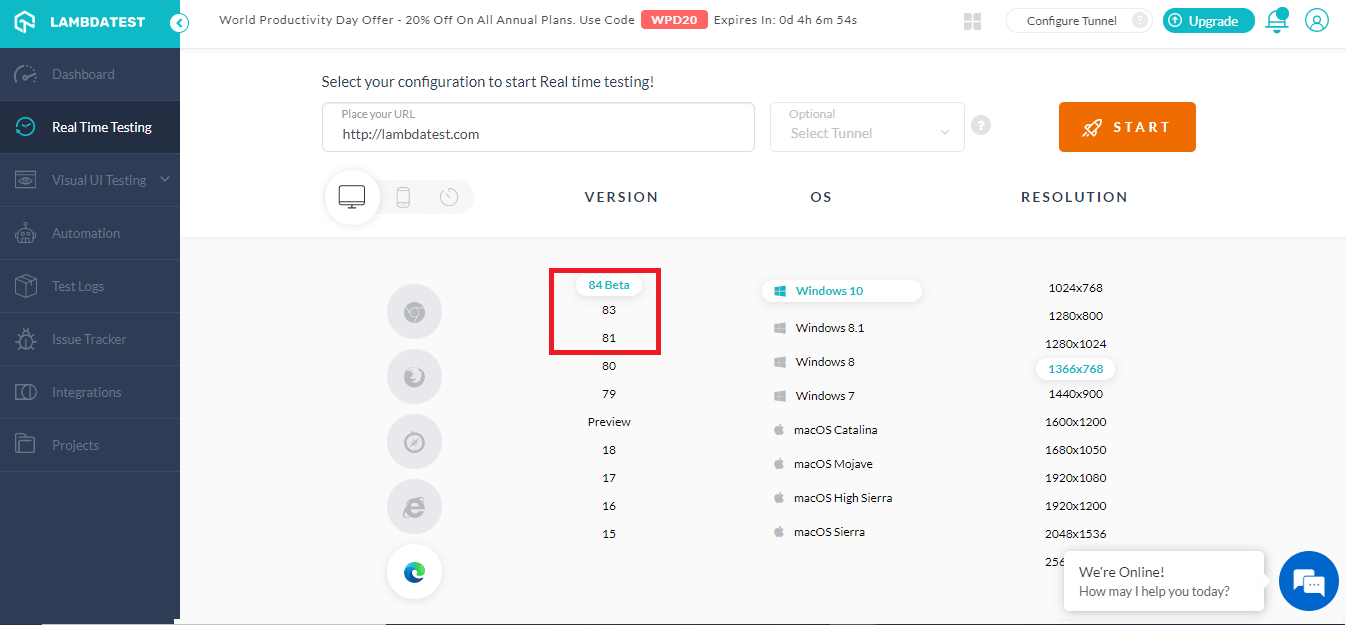 Real-Time Testing on Microsoft Edge