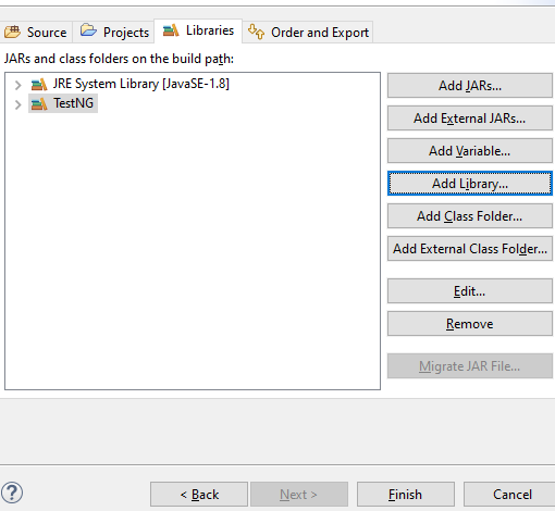 project libraries