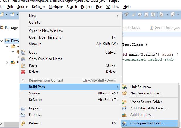Configure Build Path