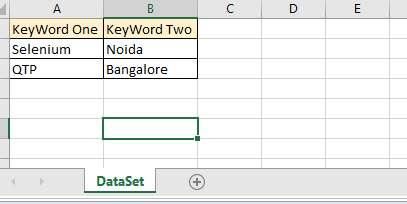 Create a Test Data Sheet