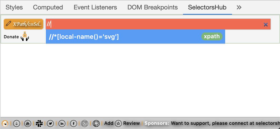 SVG Element Support