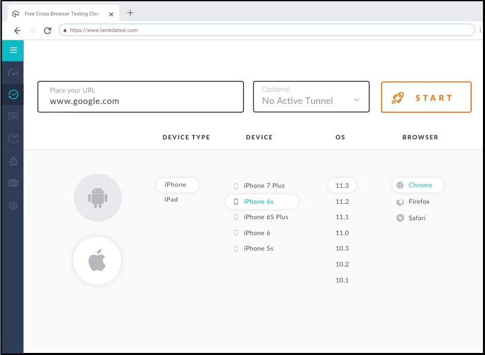 Test On IOS Browser Simulators