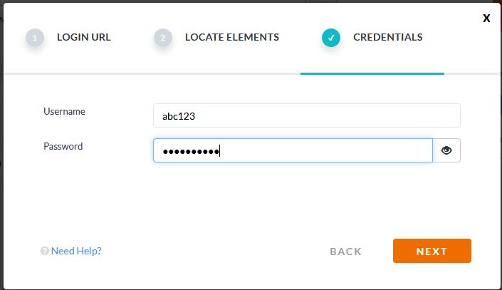 Login using username password