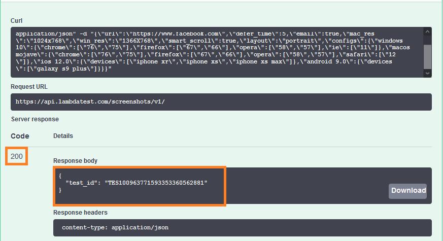 Generating Test id