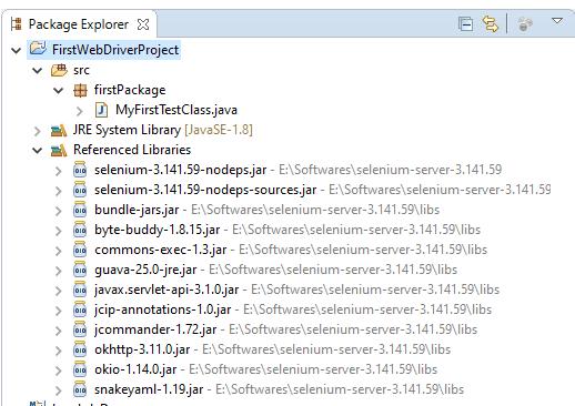 package explorer-webdriver