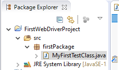 package explorer