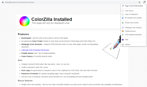 ColorZilla Color Picker Extension
