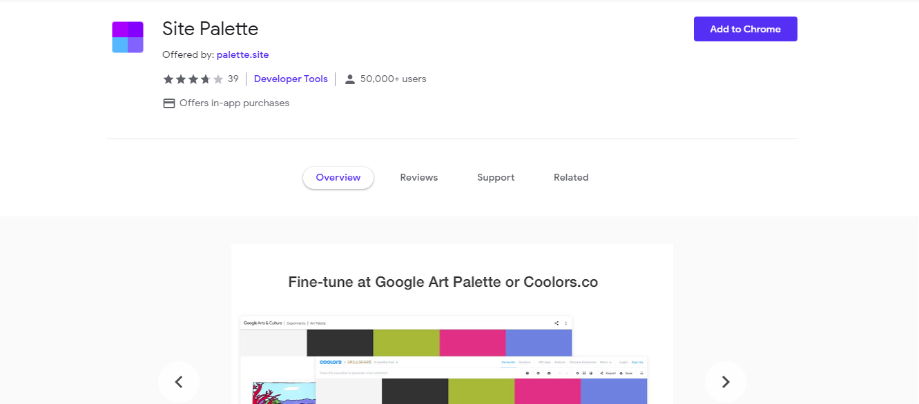 Site Palette extension