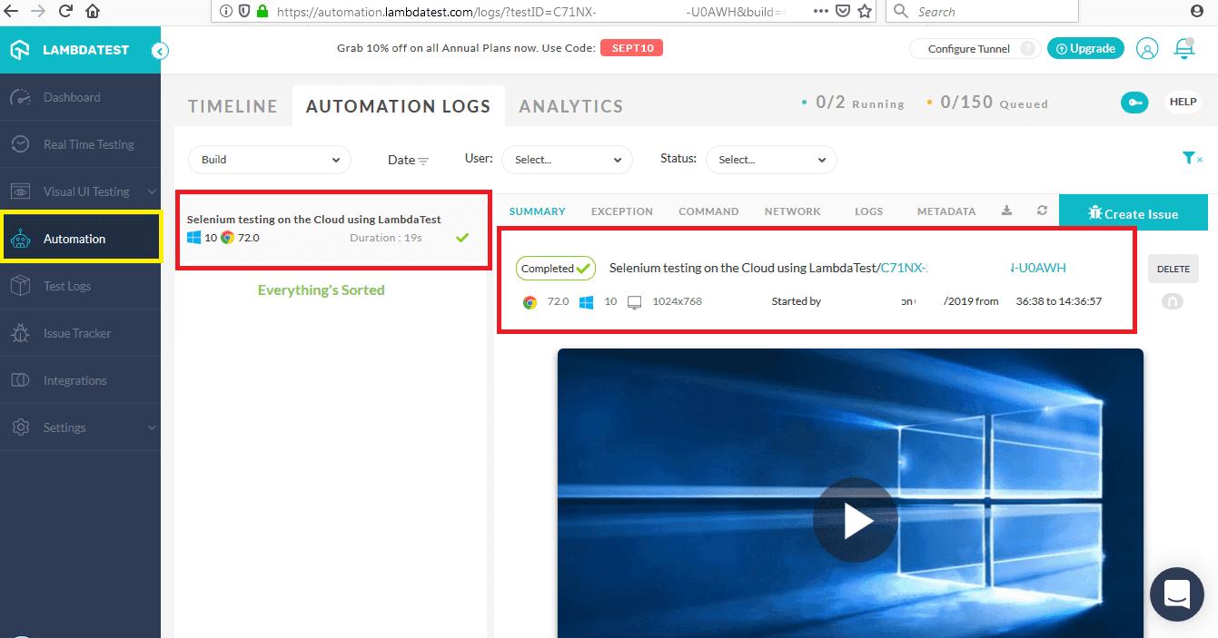 automation test's