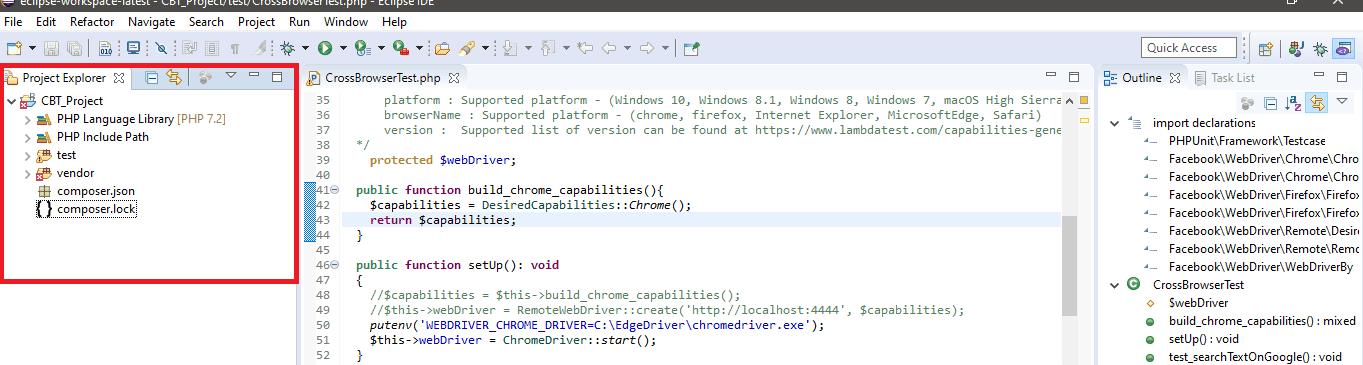 automation using Selenium PHP