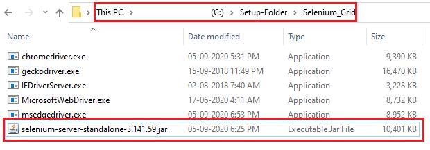 Selenium Server jar file location