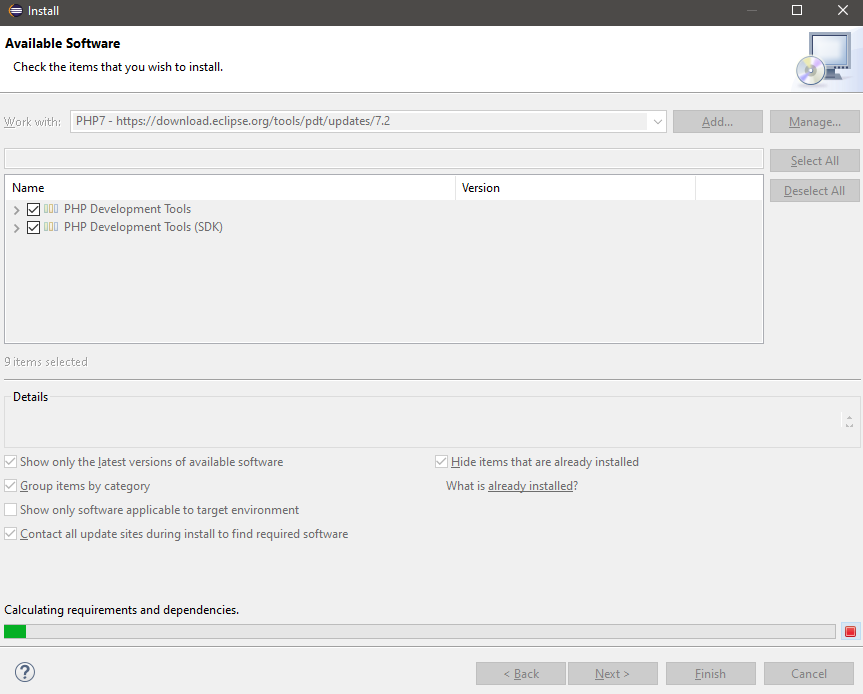 Installing the PDT update - Step 1