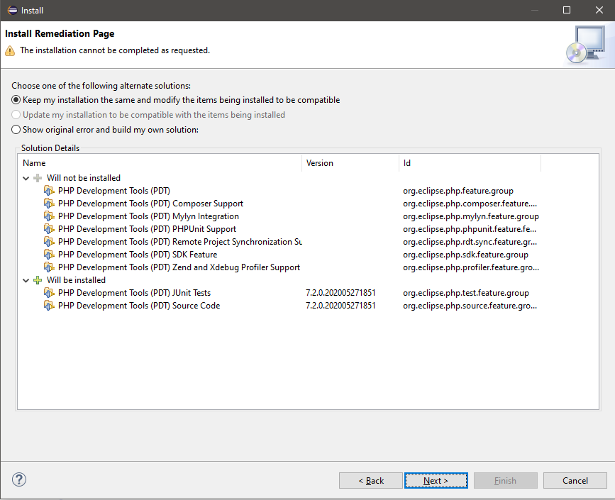 Installing the PDT update - Step 2