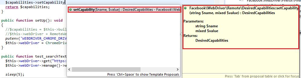 customizing browser capabilities