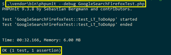 Running Selenium web automation tests
