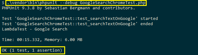 Selenium web automation tests