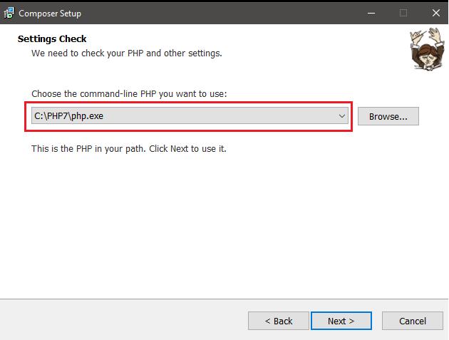 PHP Setup Settings Check