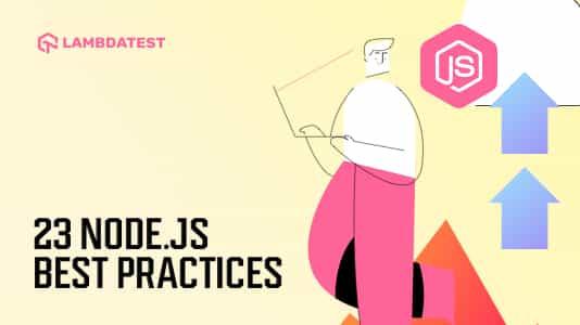 Node JS best practices