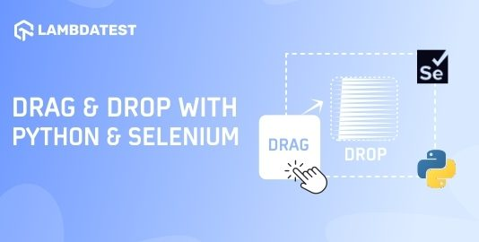 Drag And Drop In Selenium With Python