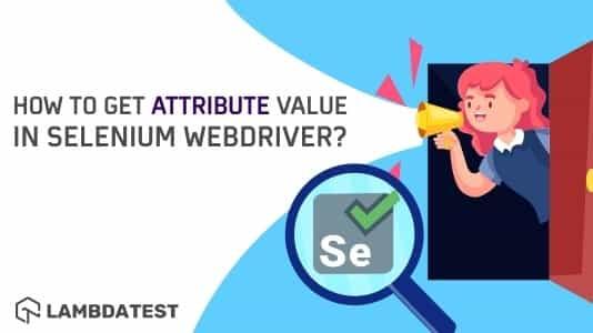 Get Attribute Value In Selenium WebDriver