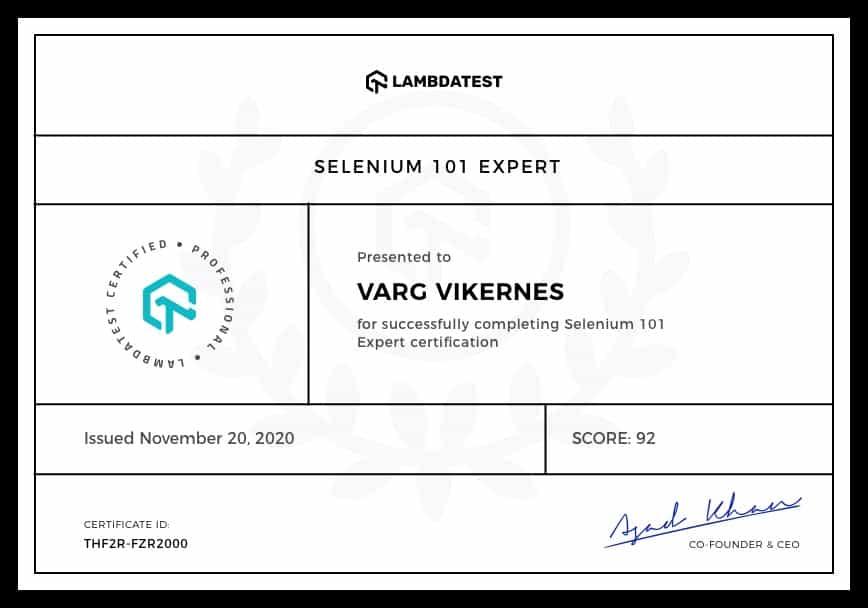 LambdaTest-Certification
