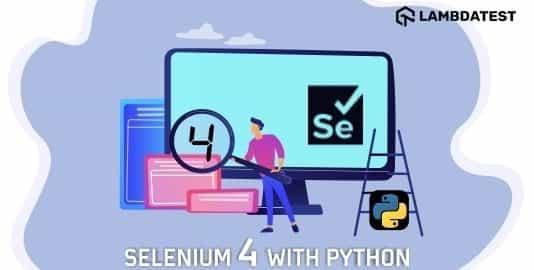 selenium 4 with python