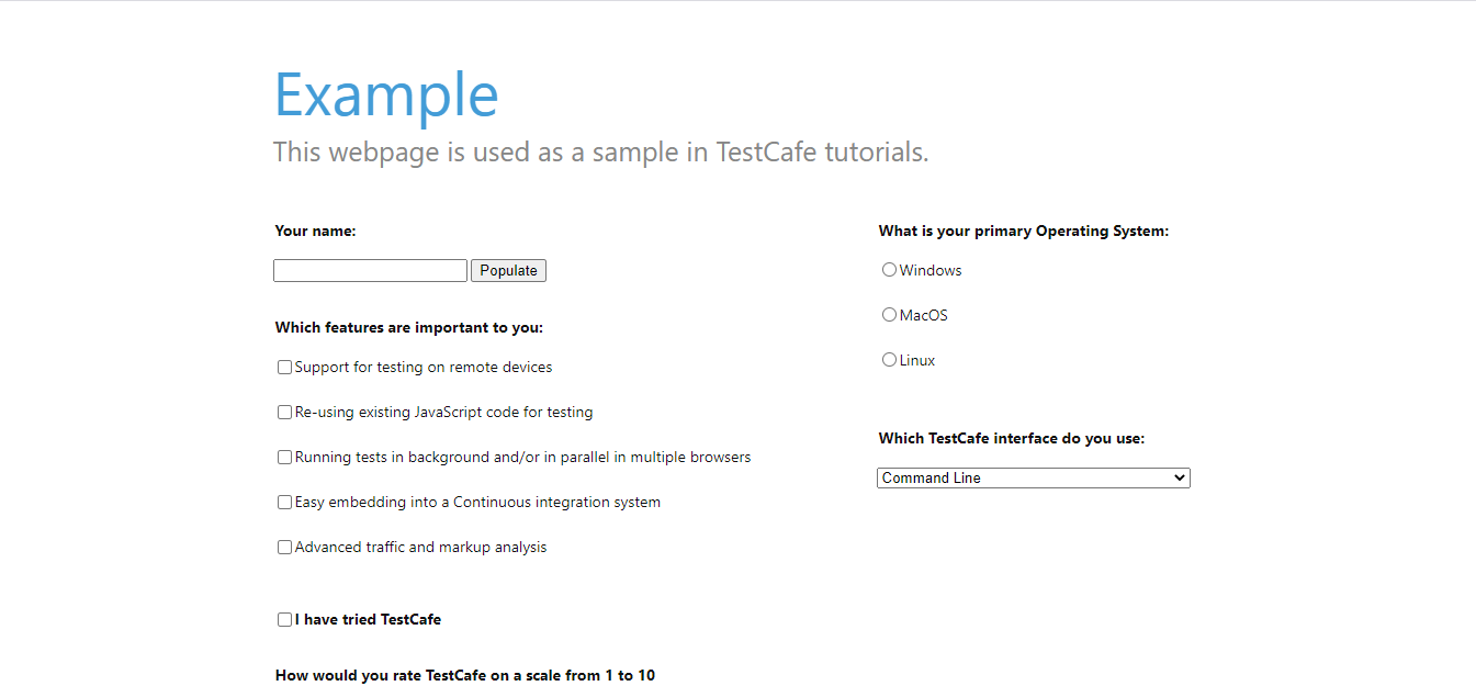 Automation Test With TestCafe