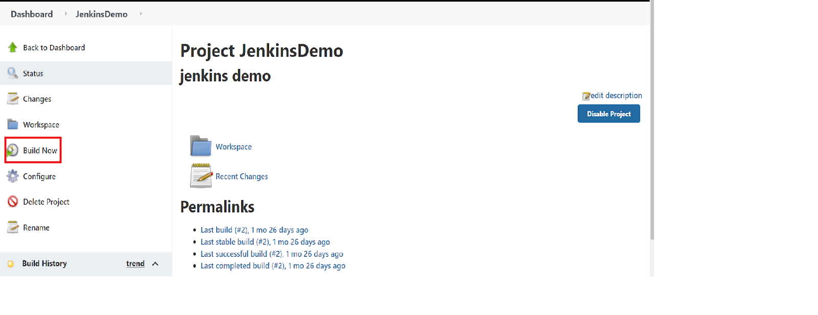 Jenkins project Demo