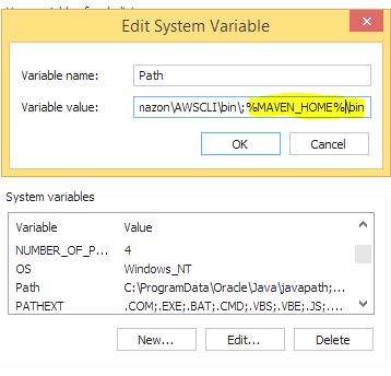 Editing SyStem Variables