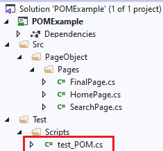 final project structure in Visual Studio