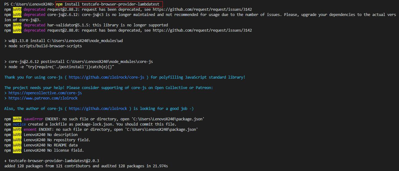 npm plugin to integrate LambdaTest