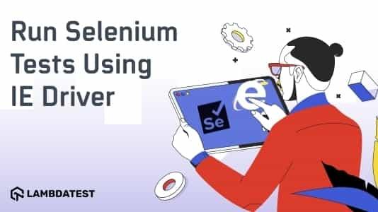 run selenium test using IE driver