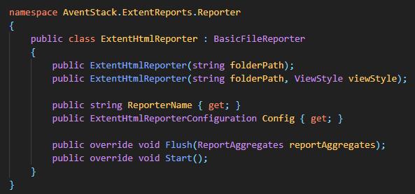 Generating Extent Report using ExtentHtmlReporter class