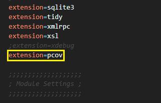 PCOV extension