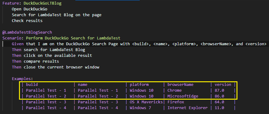 parallel execution with specflow