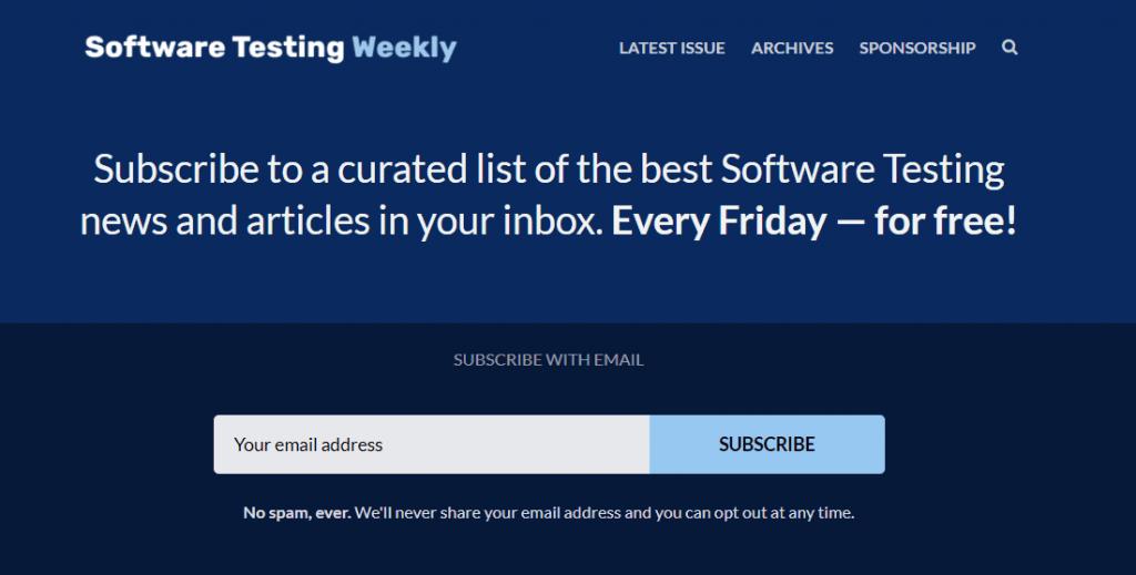 software testing weekly