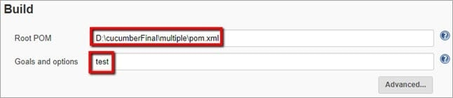 Setting Path in Pom xml