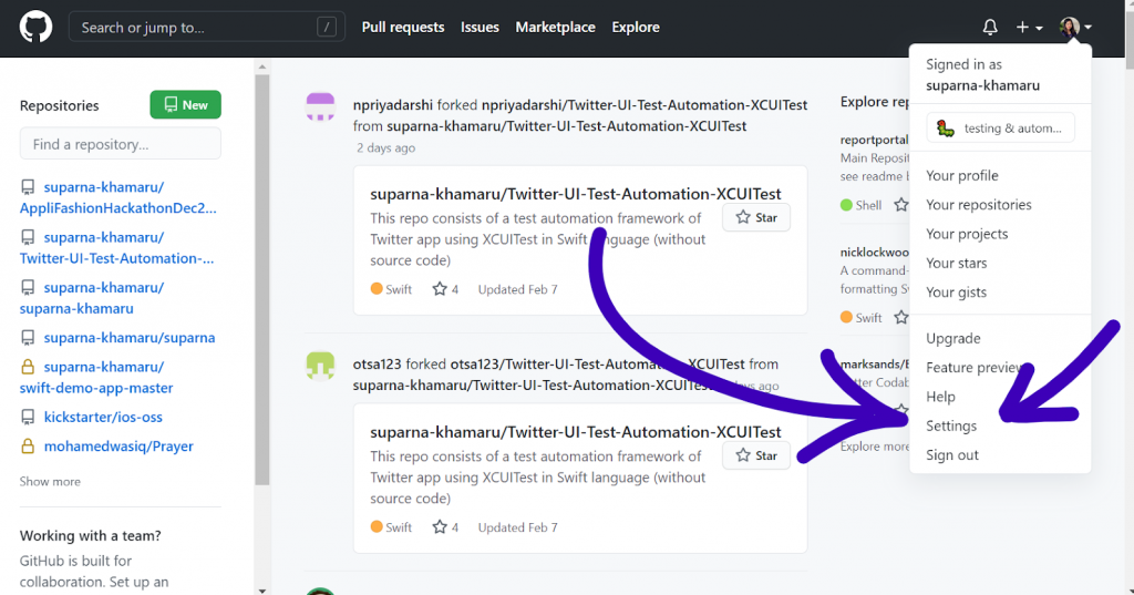 Configuring GitHub