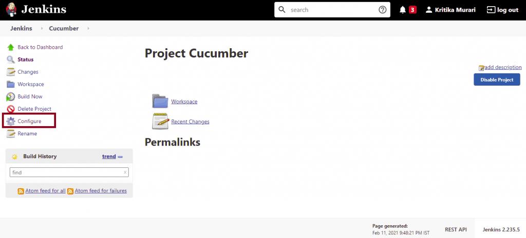 Cucumber Jenkins