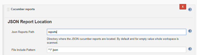 JSON report location