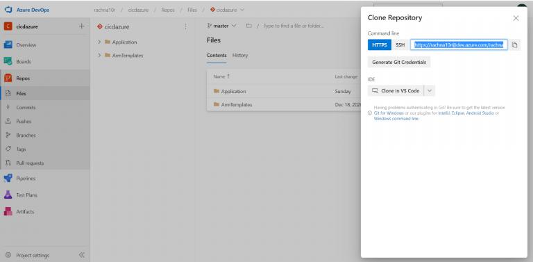 Clone Repository Azure DevOps