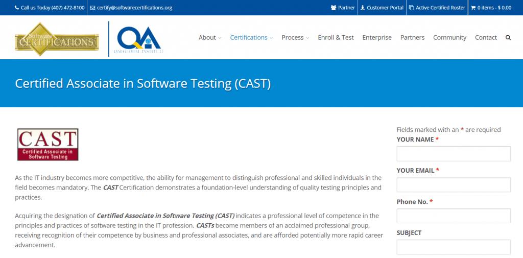 Certified Associate in Software Testing
