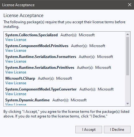 Selenium Webdriver License Acceptance