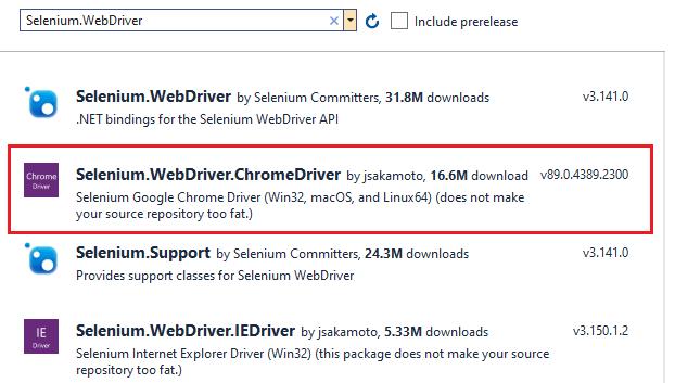 Selenium.WebDriver.ChromeDriver installation