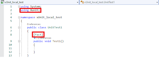 Fact Attribute in xUnit