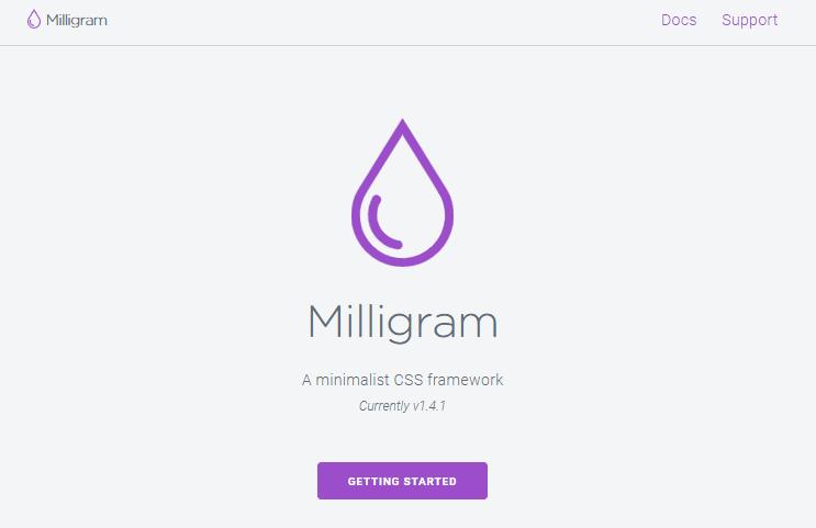 Miligram CSS