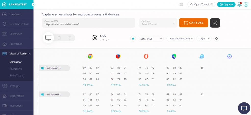 Screenshot Browsers